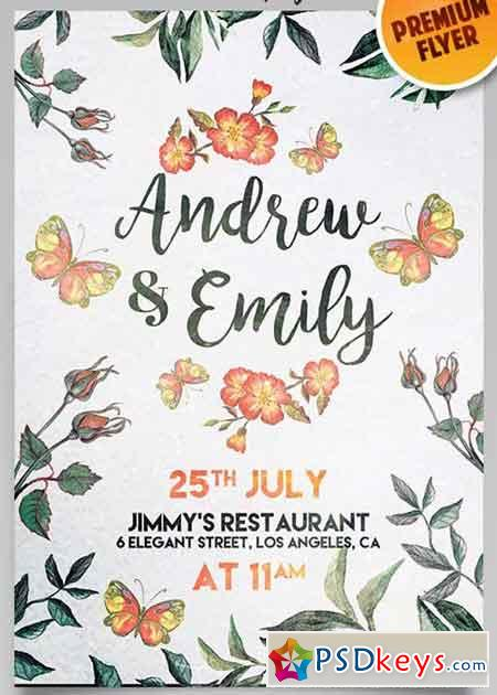 Wedding Invitation Flyer Psd Template Facebook Cover 2