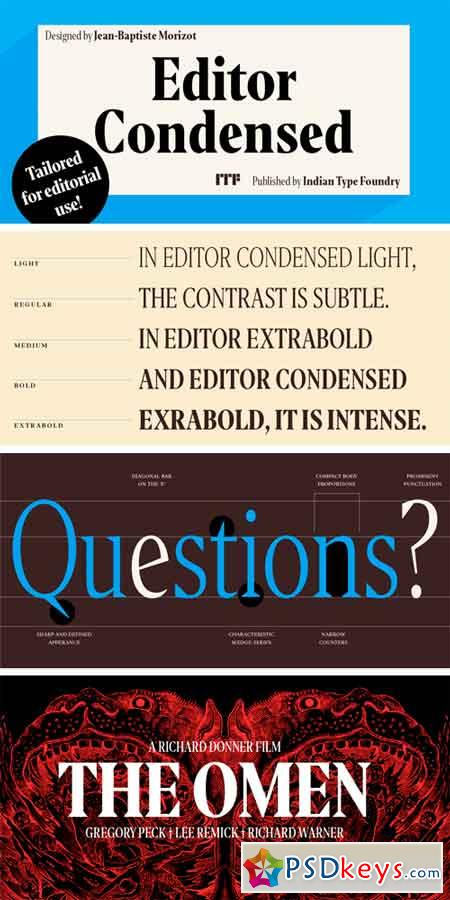 Editor Condensed Font Family