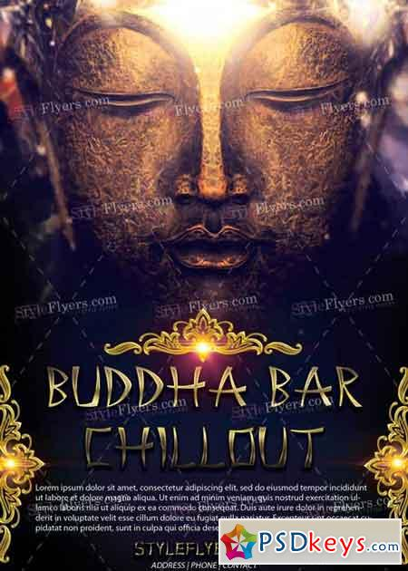 Buddha Bar Chillout Psd Flyer Template Free Download Photoshop