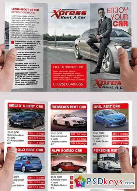 Rent A Car V5 Psd Tri Fold Psd Brochure Template Free Download