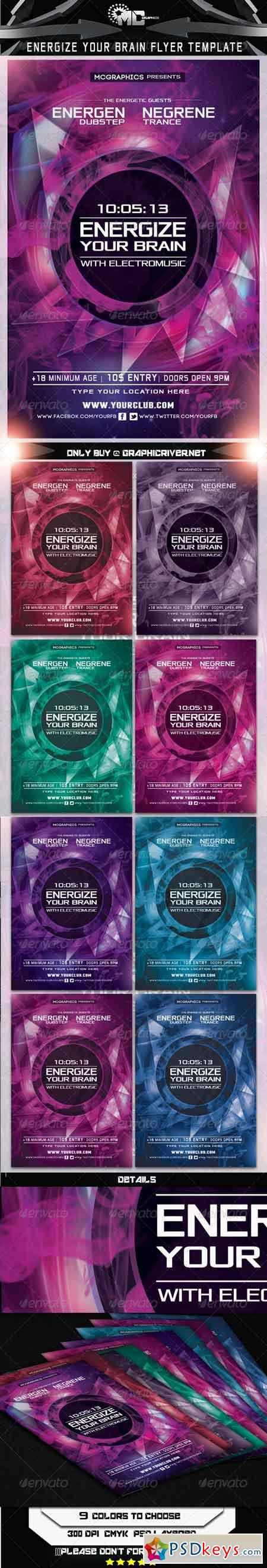 Energize your Brain Flyer Template 5743109