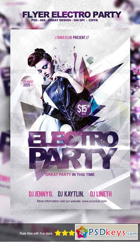 Flyer Electro Party Template 5284226