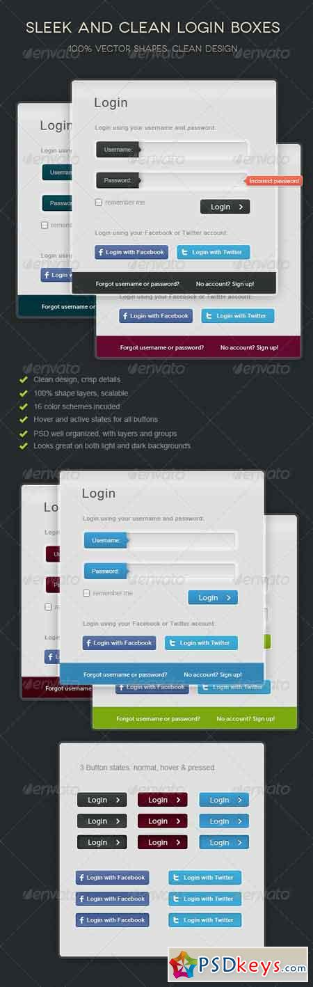 Sleek Login Forms 520857