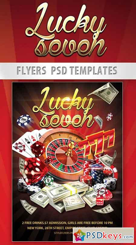 Gamble Flyer PSD Template + Facebook Cover