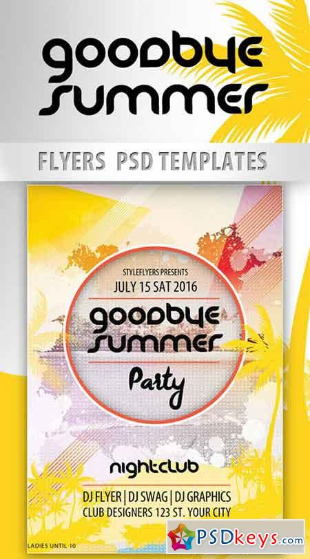 Goodbye Summer Party PSD Template + Facebook Cover