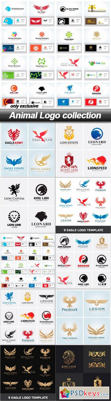 Animal Logo collection - 10 EPS
