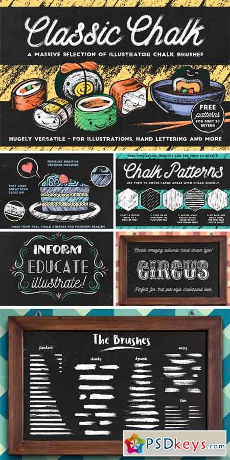 Classic Chalk - Brushes + FREE item! 744644