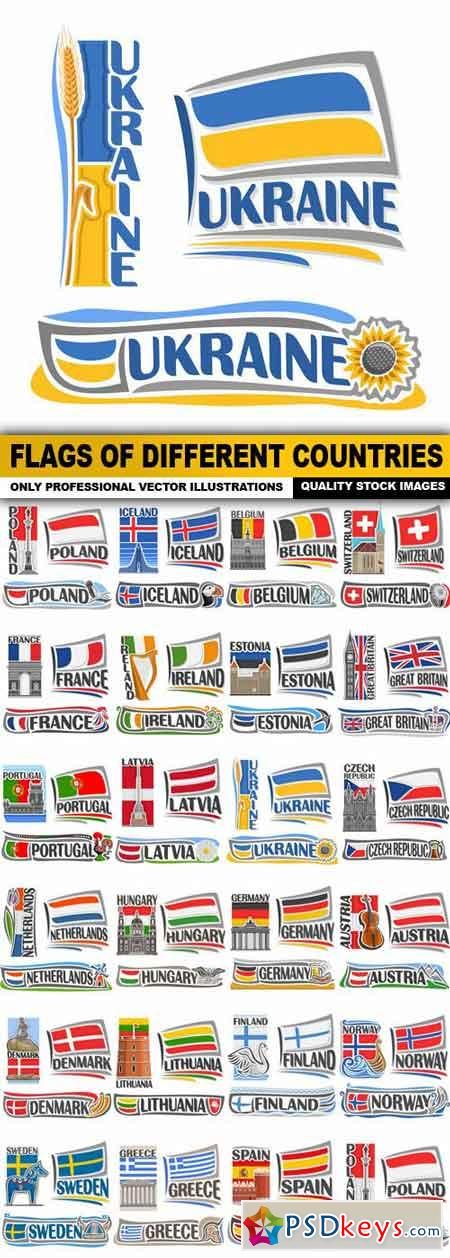 Flags Of Different Countries - 23 Vector