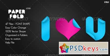 Paper Fold - Letter Custom Shape 479663