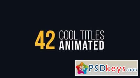 42 Cool Titles Animated - 16514775 - After Effects Projects