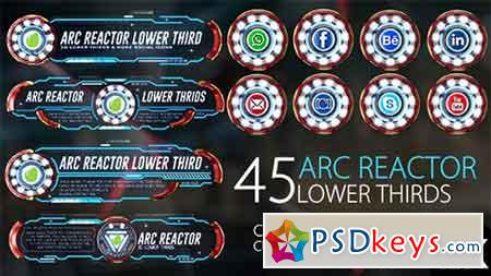 45 Arc Reactor Lower Thirds 16086234 - After Effects Projects