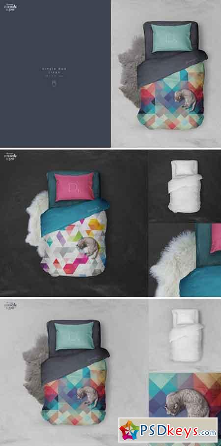 Single Bed Linen Mockup 805701 187 Free Download Photoshop