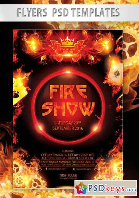 fire show flyer psd template   facebook cover  u00bb free
