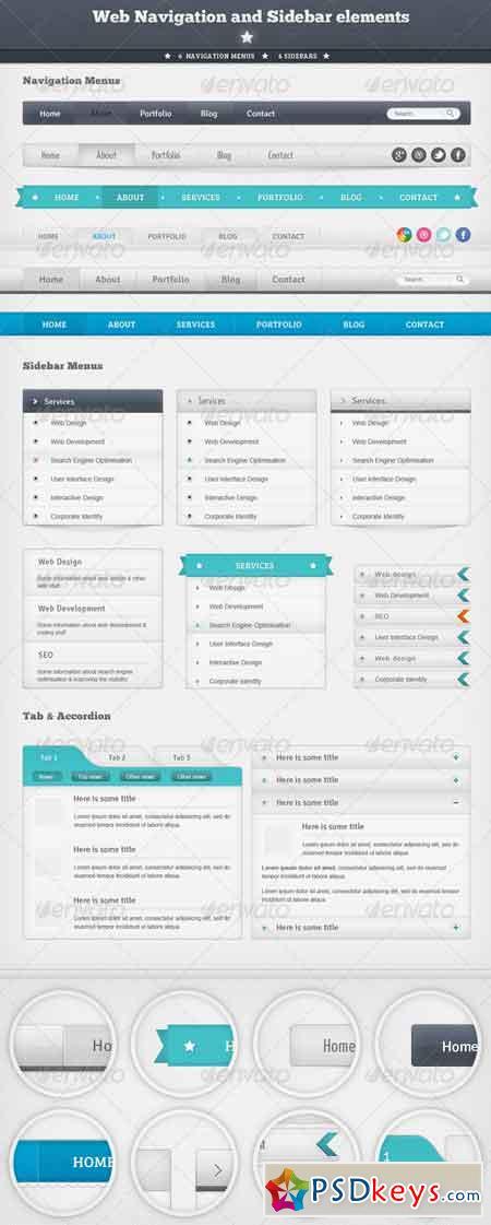 Web Navigation and Sidebar Elements 1539123