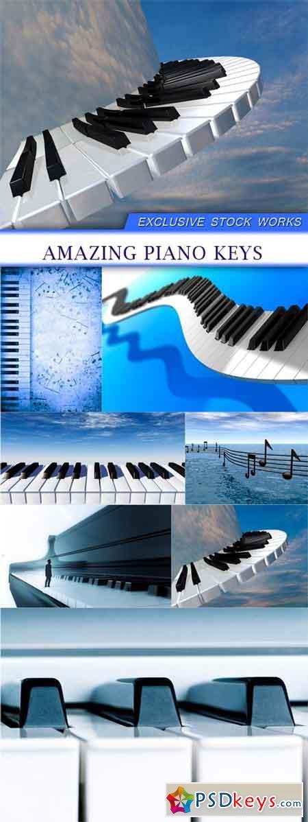 Amazing piano keys 7x JPEG