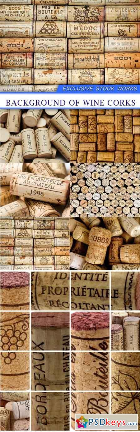 Background of wine corks 7X JPEG