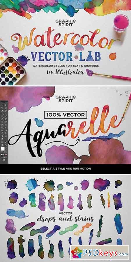 Watercolor Vector Lab 794763