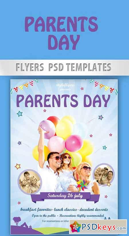 Parents day flyer psd template facebook cover free for Parent flyer templates
