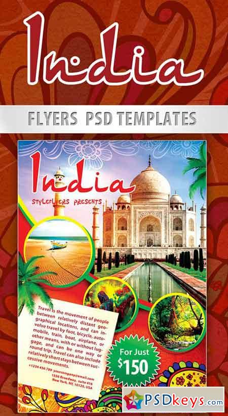 india flyer psd template   facebook cover  u00bb free download