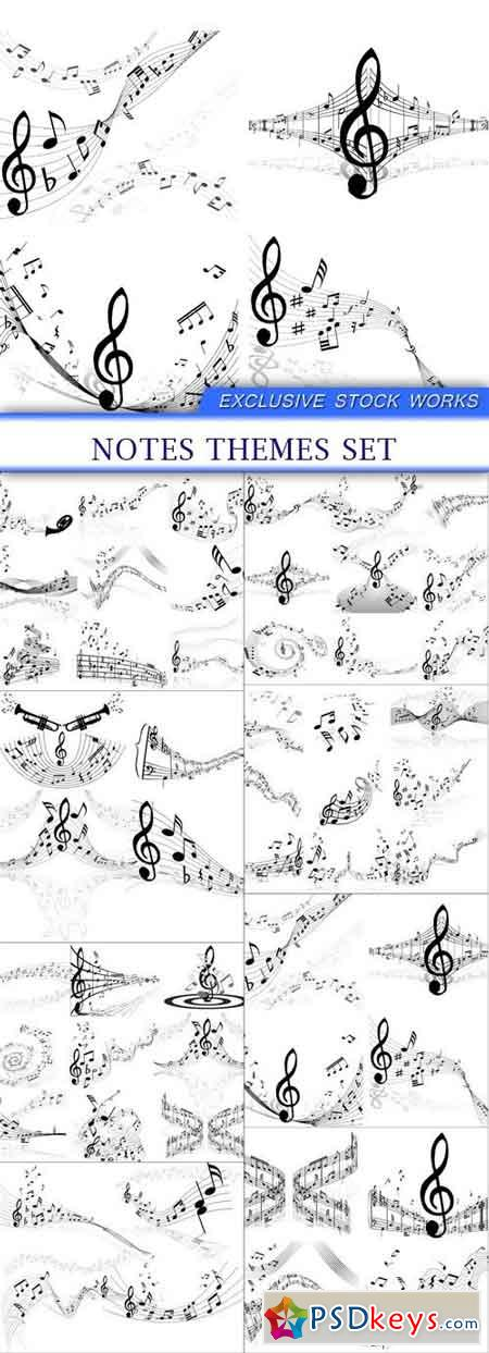 notes themes set 8x EPS