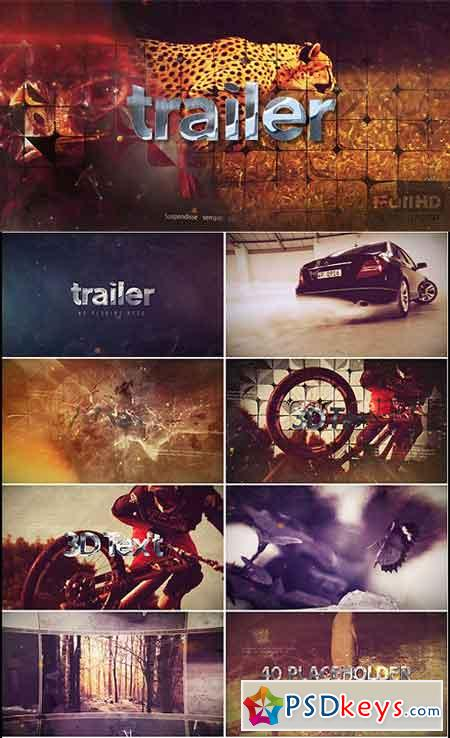 3D Action Trailer 16867757 - After Effects Projects