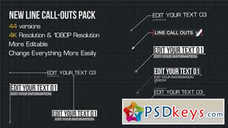 Line Call-Outs Pack 16793780 - After Effects Projects