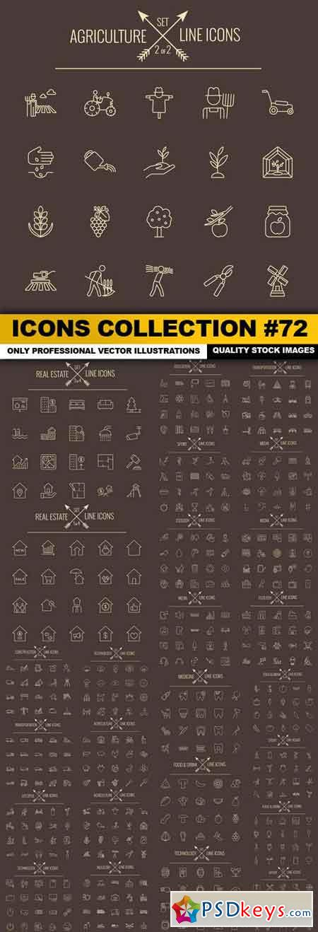 Icons Collection #72 - 25 Vector