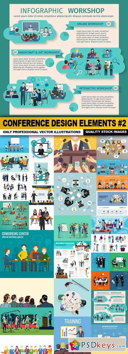 Conference Design Elements #2 - 25 Vector