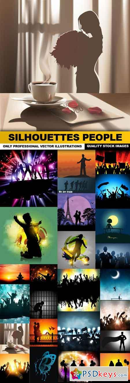 Silhouettes People 2 - 25 Vector
