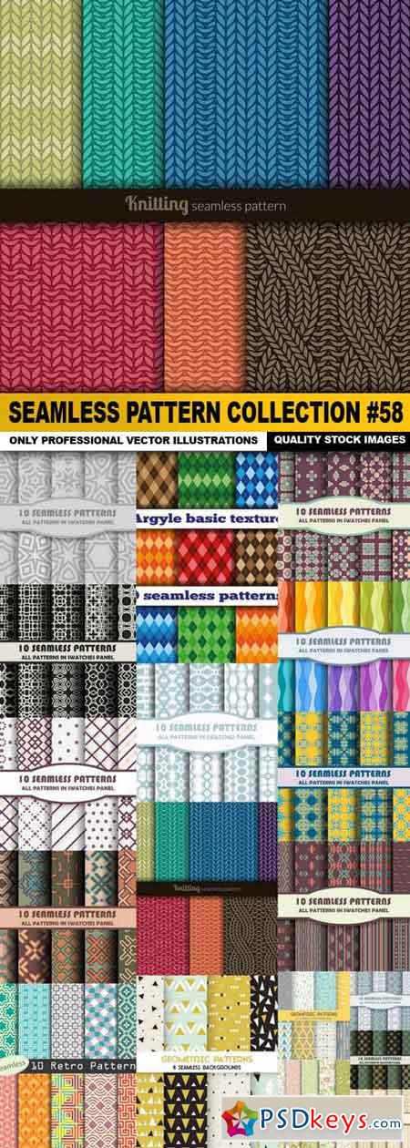 Seamless Pattern Collection #58 - 18 Vector