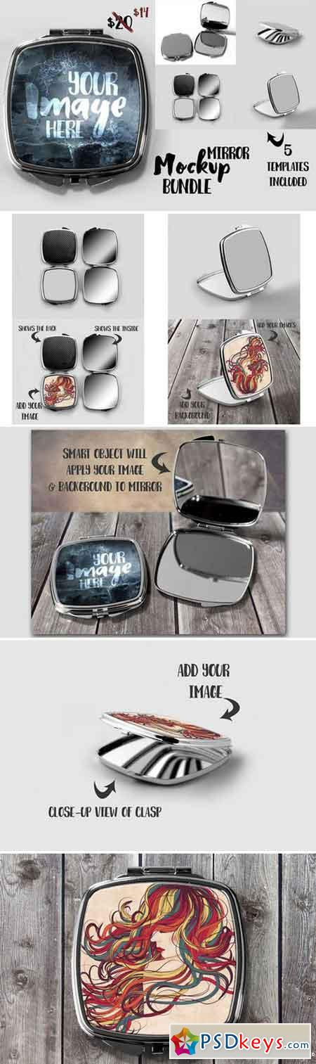 Compact mirror mockup bundle 811336