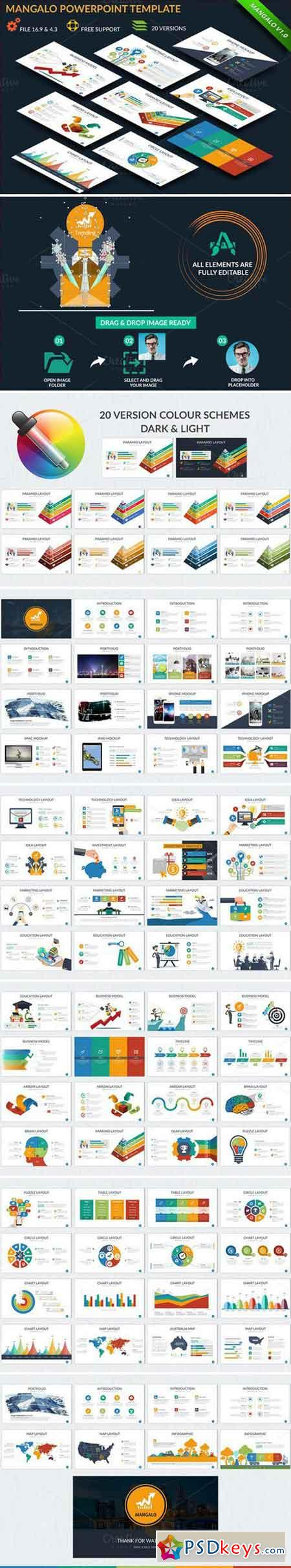 Mangalo Powerpoint Template 790567