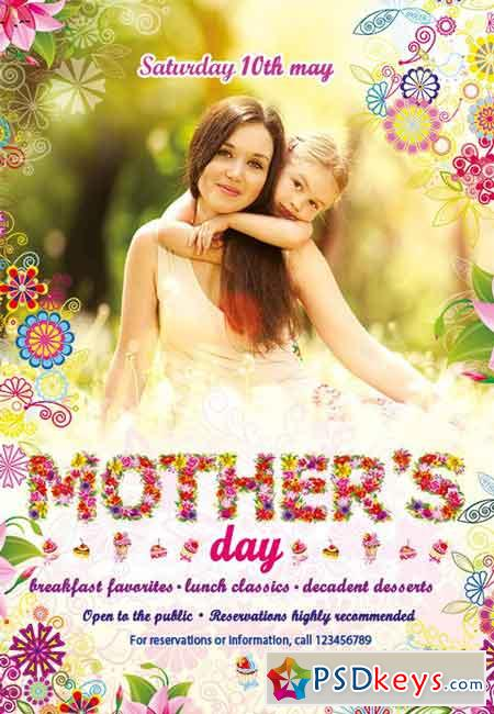 Mothers' Day Flyer PSD Template
