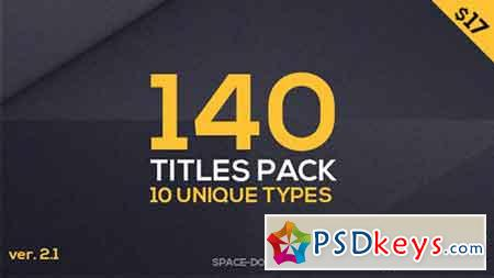 140 Titles Pack (10 popular types) 16917604 - After Effects Projects