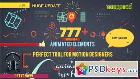 Shape Elements 7826596 Version 16 - After Effects Projects