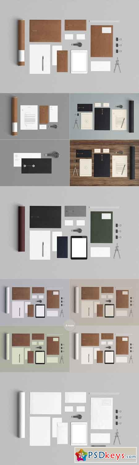 Stationery Mock Up - Kraft paper 87901