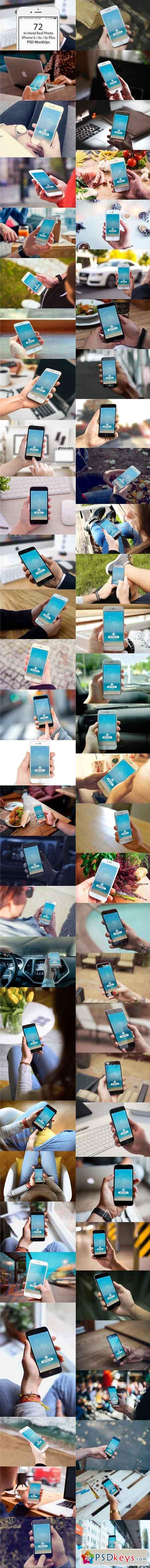 72 In Hand iPhone 6s Plus Mockups 830698