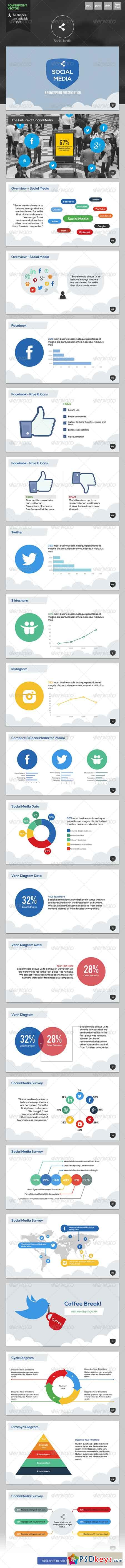 social media - powerpoint template 6335900 » free download, Powerpoint templates