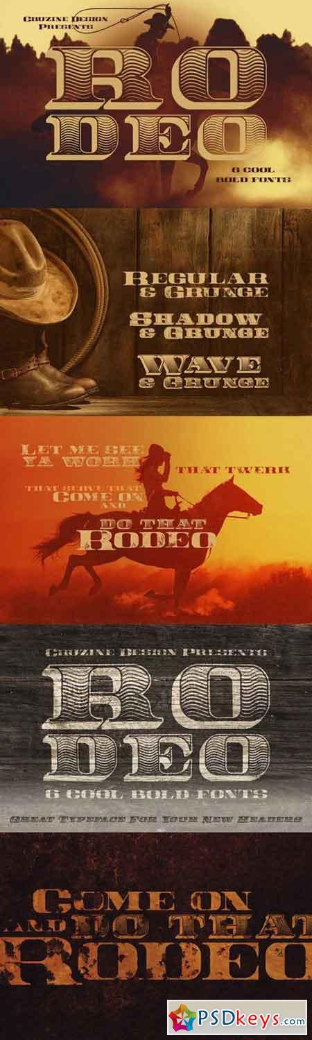 Rodeo Typeface 775833