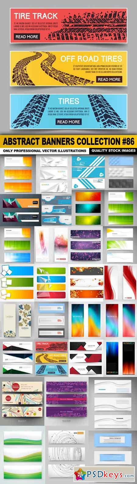 Abstract Banners Collection #86 - 30 Vectors