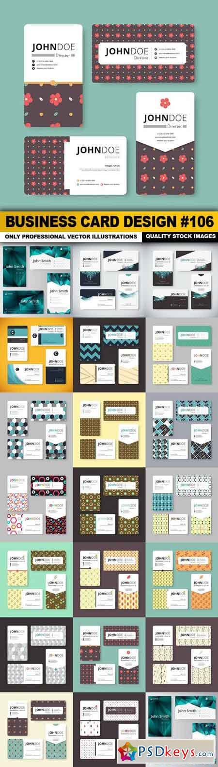 Business Card Design #106 - 20 Vector