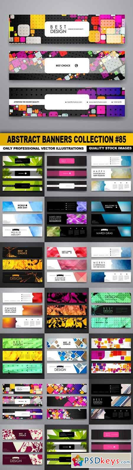 Abstract Banners Collection #85 - 20 Vectors