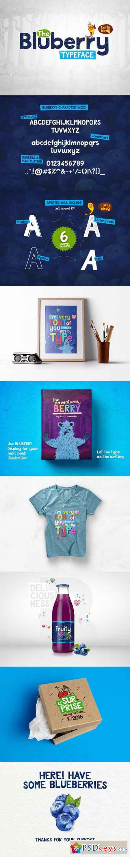 Bluberry Typeface 788238