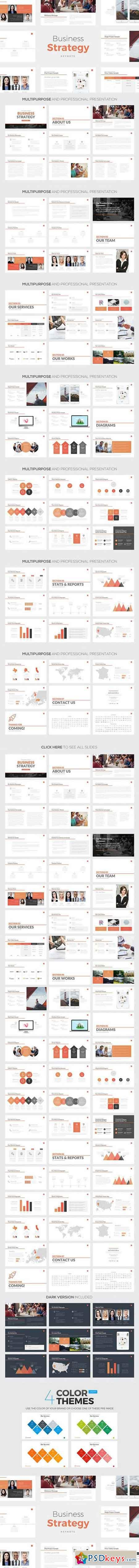 Business Strategy Keynote Template 805719