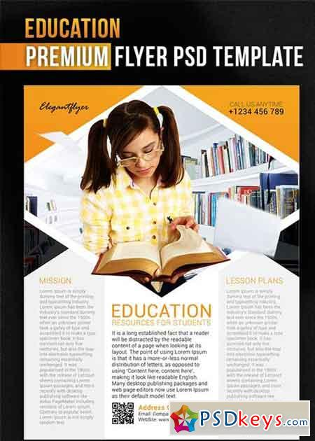 education brochure templates psd free download - education v1 flyer psd template facebook cover free