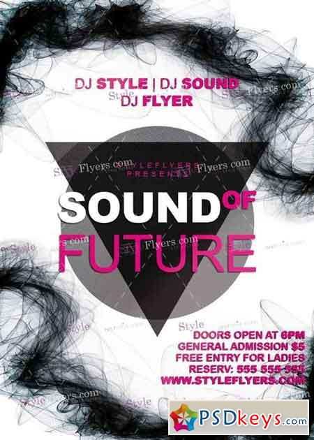 Sound Of Future V1 PSD Flyer Template