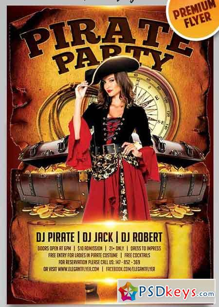 Pirate Party V12 Flyer Psd Template Facebook Cover
