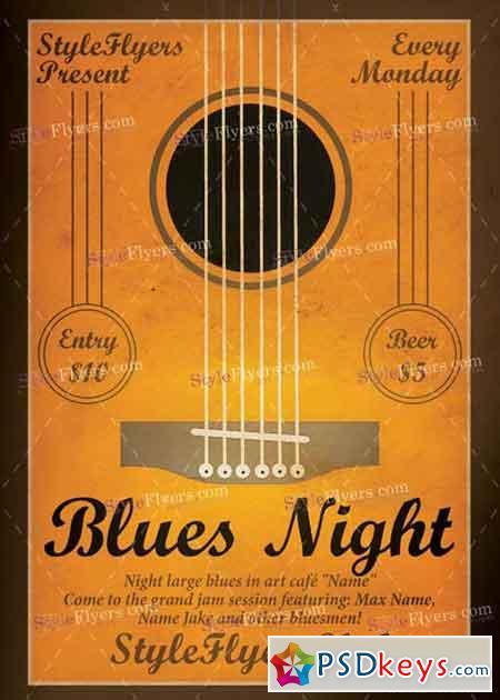 Blues Night V1 PSD Flyer Template