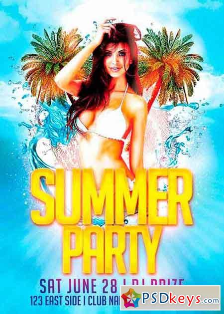Summer Party Flyer Template Vol.2