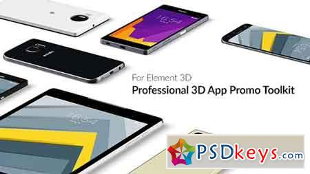 Professional 3D App Promo Toolkit for Element 3D 15852376 - After Effects Projects
